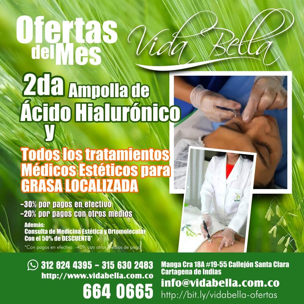 2da ampolla de ácido hialurónico y  tratamientos para grasa localizada